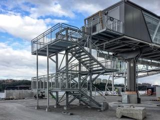 Industrial steel stairs
