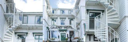 TLC white steel spiral stairs Grand Hotel Lysekil Sweden