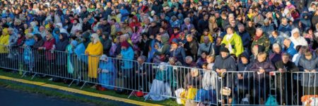TLC CITY guardrails during Pope Francis' pilgrimage in Lithuania