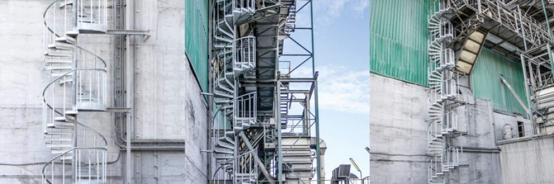 TLC Steel spiral stairs at Lafarge Cement Plant, Poland