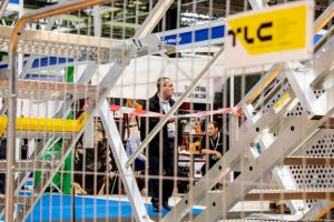 TLC presenting their steel structures at UK Construction Week 2018