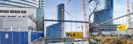 tlc group temporary fences smart mobilt office block complex Centrum Południe Poland www-2