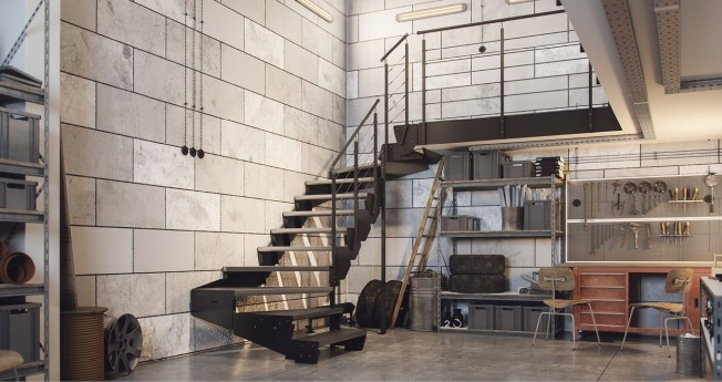Modular stairs is a unique and special product. It is the only one of a kind available on the market that has regulated steps height which means they can can be used at any desired height.