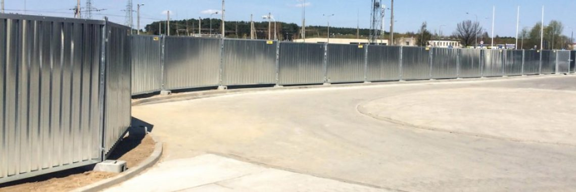 Temporary fences construction