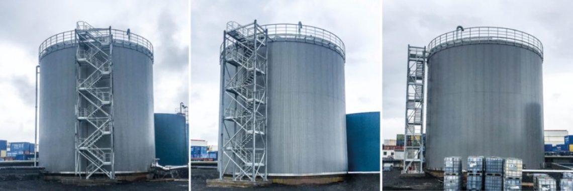 Storage tank stairs Iceland
