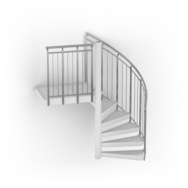 Balustrades for spiral stairs
