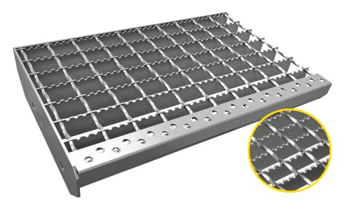 Serrated welded grating
