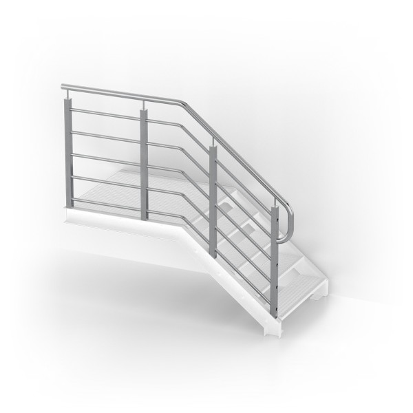 Balustrades for straight stairs