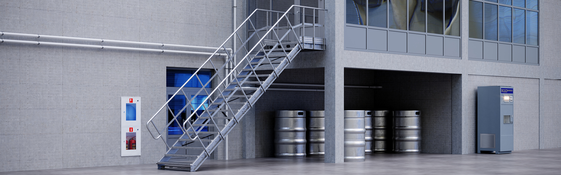 Modular stairs Linea