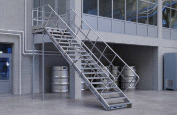 modular technical stairs