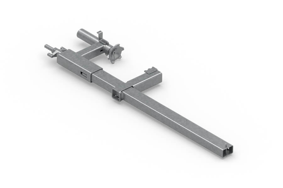 Universal solution used in numerous configurations. It allows assembly without compromising the structural element.