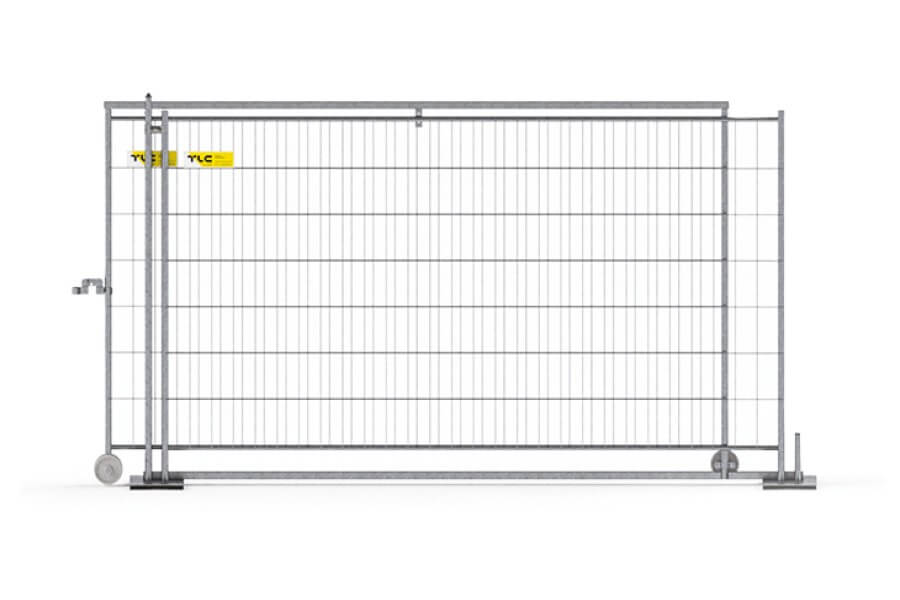 Is the alternative to swing gates and can be used in places with limited space. It consists of two MOBILT panels of any kind and additional accessories.