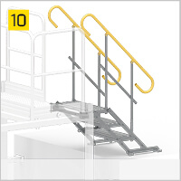 Adapter-staircase exit